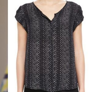Joie Iva Printed Silk Button Down
